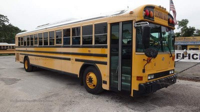 #2477 2006 Bluebird All American 8.3L Cummins Allison Automatic 3000 Air Brakes 84 Passenger seat belts air conditioning clean used florida school buses